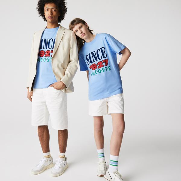 Lacoste L!VE Unisex Print Cotton T-shirt