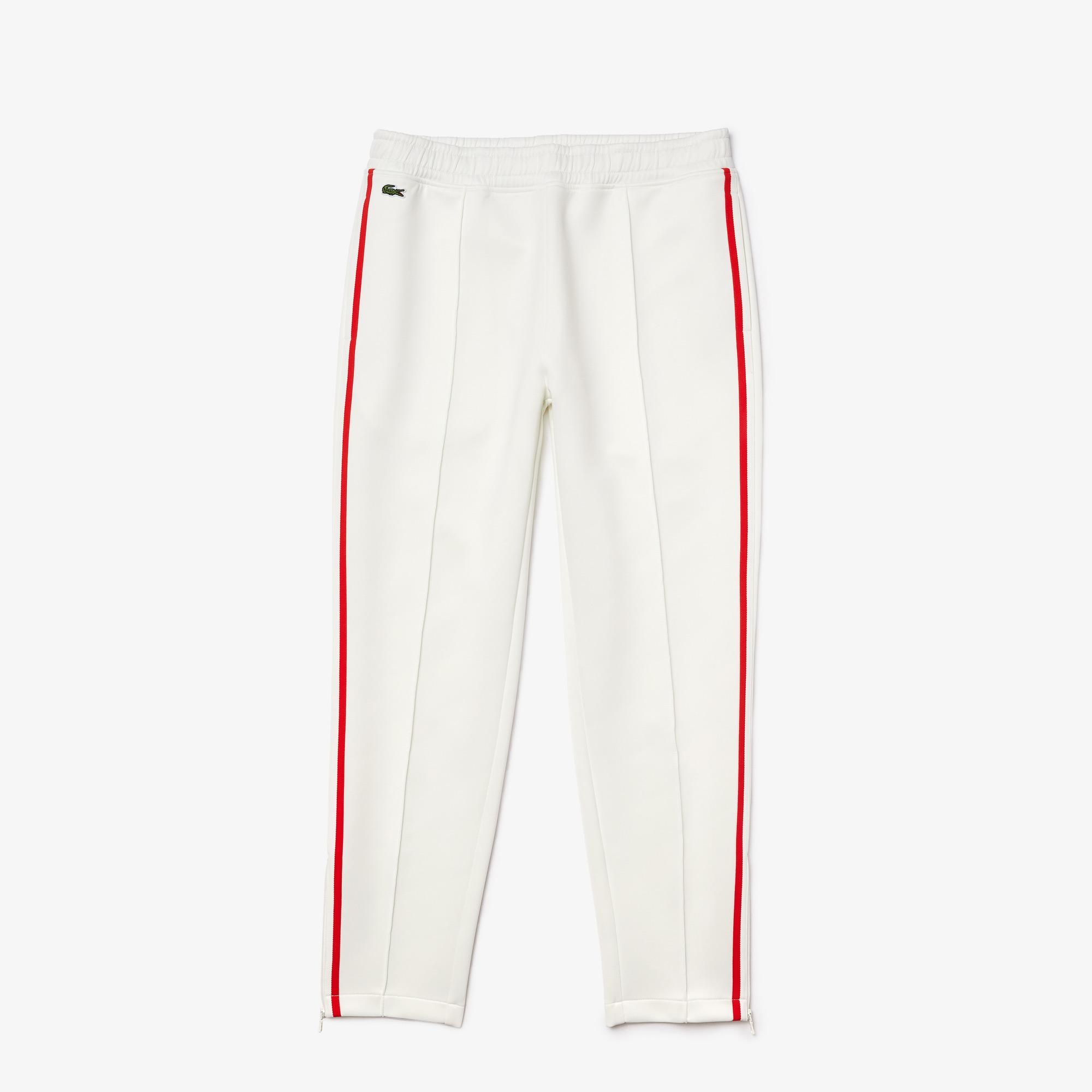Lacoste Women's Straight Cut Contrast Bands Tracksuit Pants