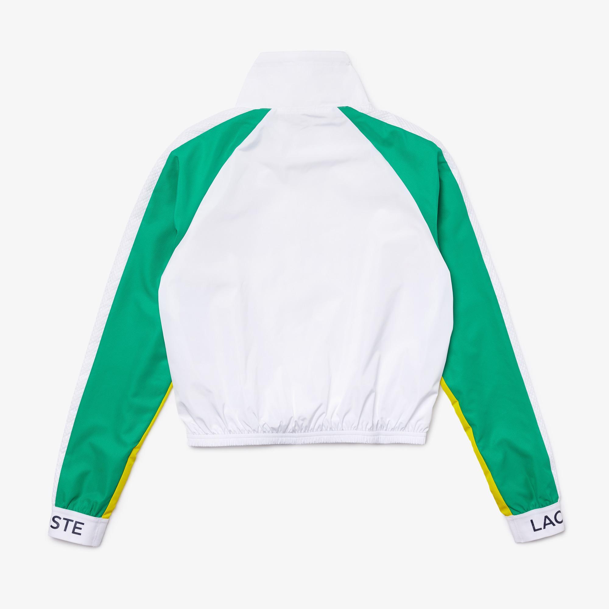 Lacoste SPORT Women's Water-Resistant Zip Tennis Jacket