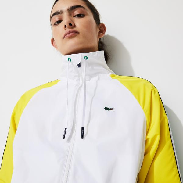 Lacoste SPORT Women's Water-Resistant Zip Tennis Jacket