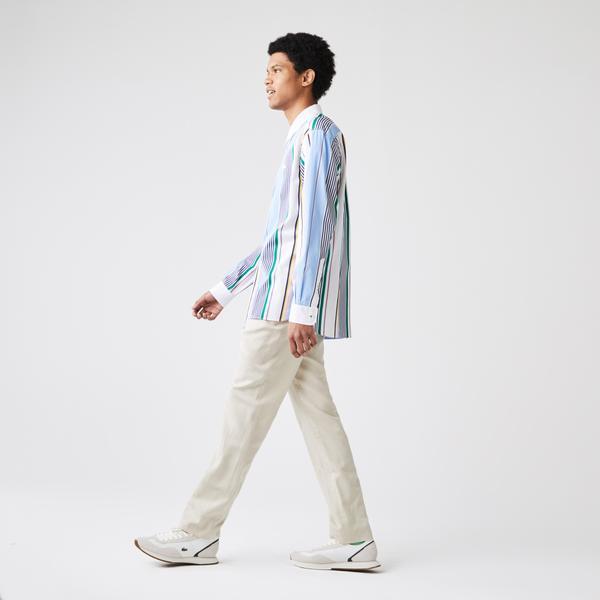 Lacoste Men's Slim Fit Cotton And Linen Blend Pants