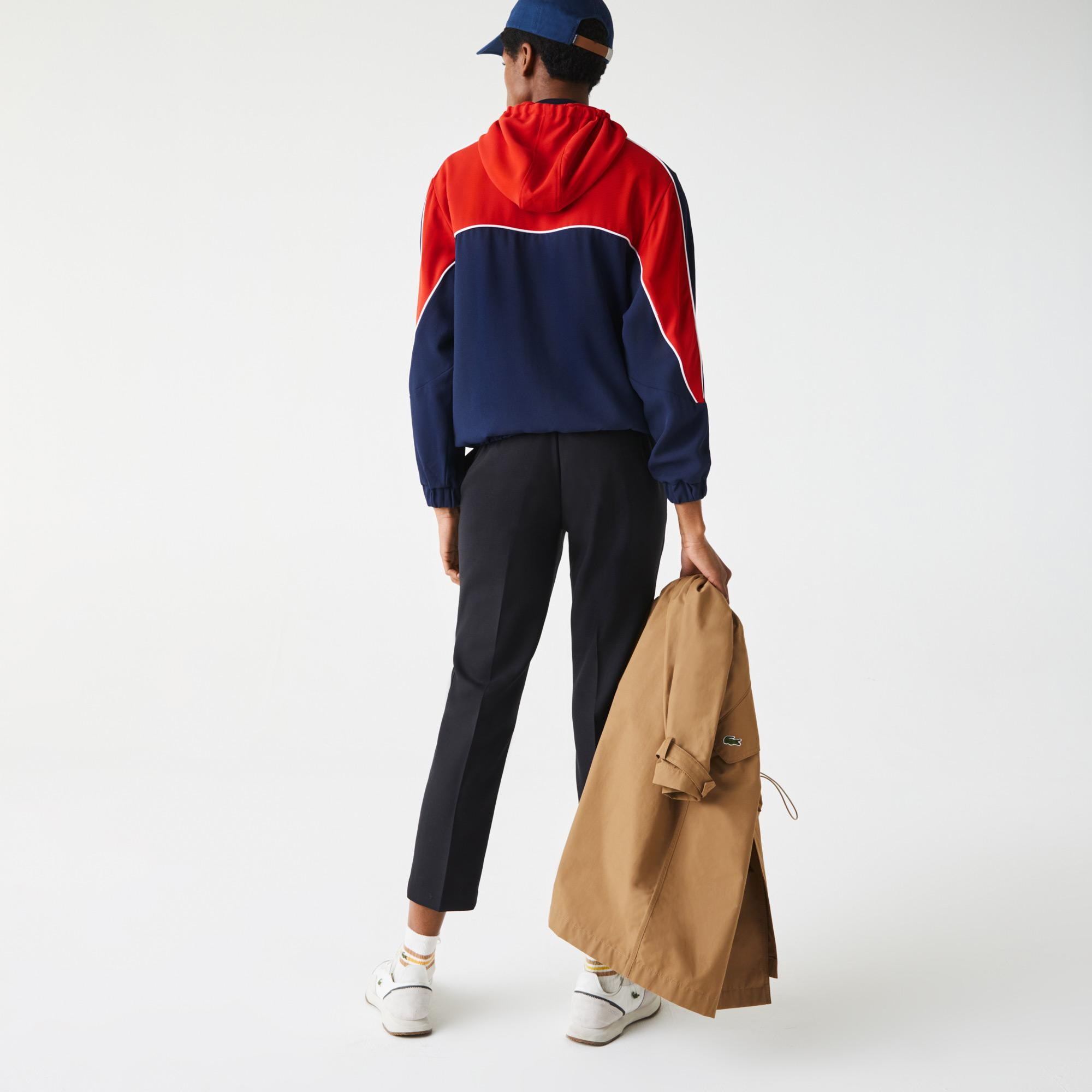 Lacoste Women's Hooded Colorblock Zip Sweatshirt