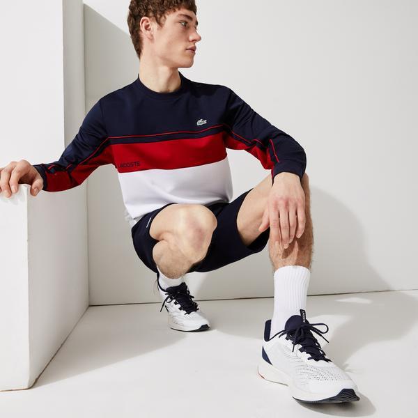 Lacoste Men's SPORT Resistant Colourblock Piqué Sweatshirt