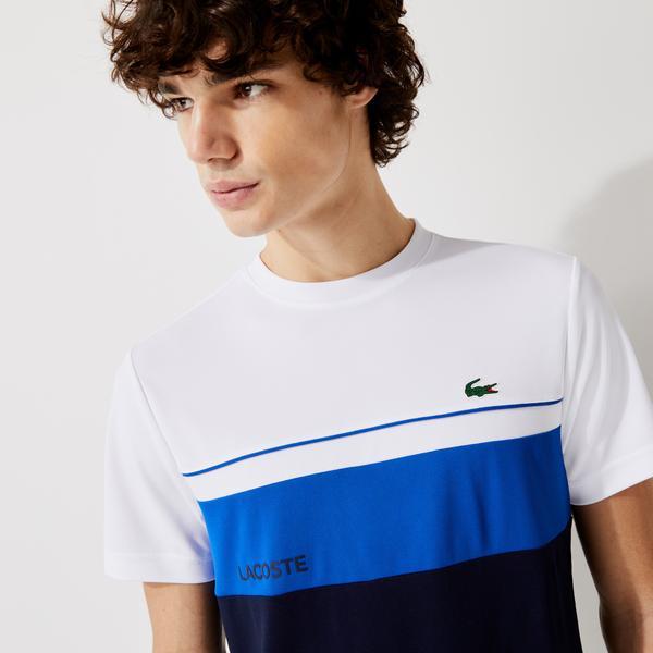 Lacoste Men's SPORT Crew Neck Breathable Colourblock T-shirt