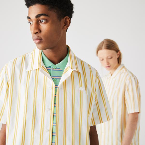 Lacoste Unisex LIVE Striped Satiny Shirt