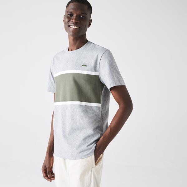Lacoste Men?s Crew Neck Piqué Panel Cotton T-shirt