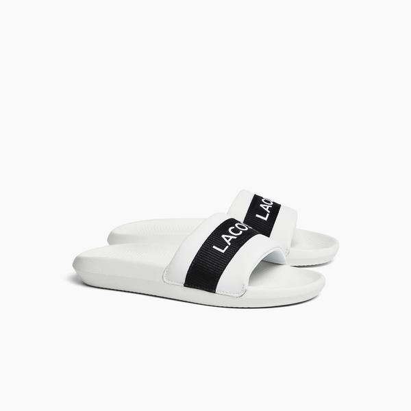 Lacoste Women's Croco Synthetic and Textile Slides