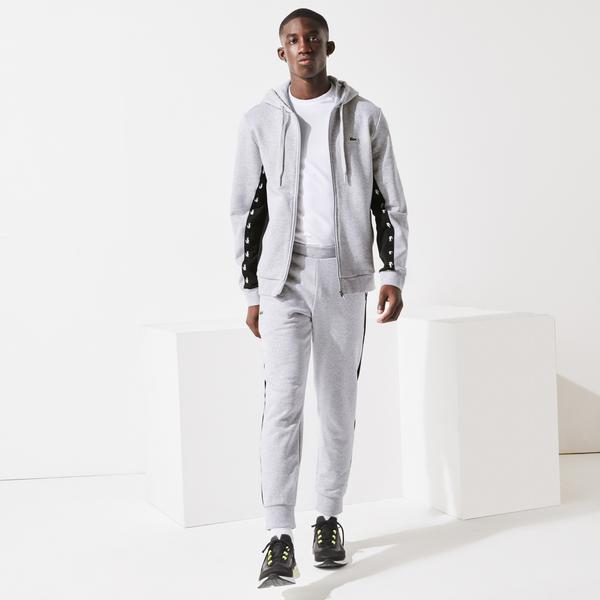 Lacoste Men's Contrast Accents Fleece Tracksuit Pants