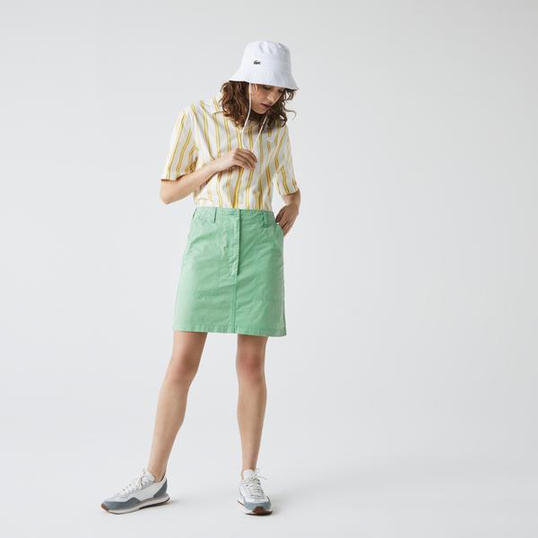 Lacoste Women's Short Lightweight Cotton Pocket Skirt