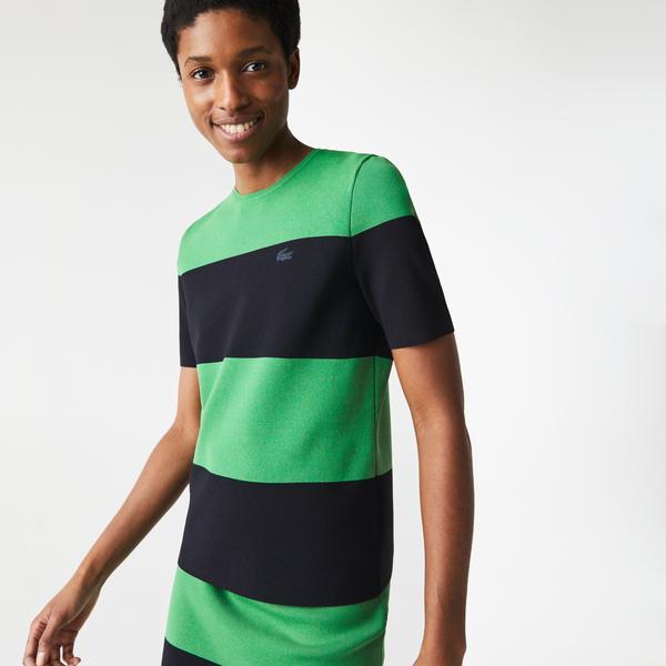 Lacoste L!VE Women's Striped Knit Sweater