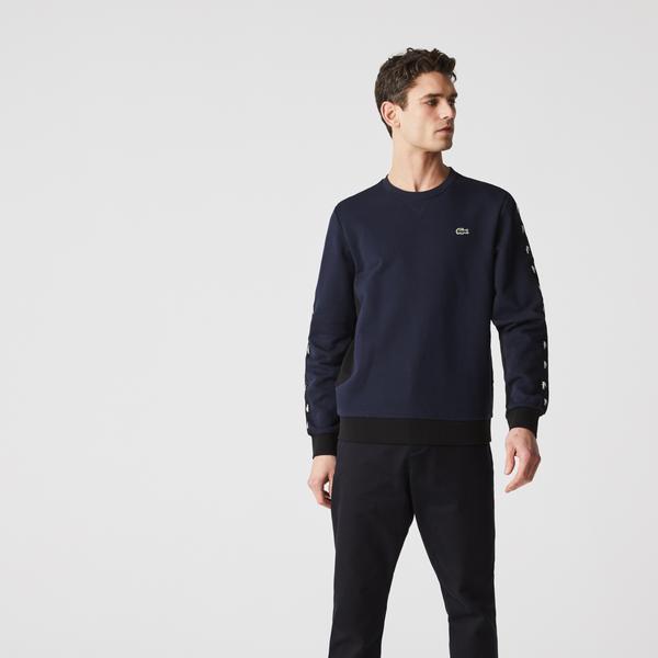 Lacoste Men's Crew Neck Colourblock Fleece Sweatshirt