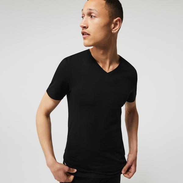 Lacoste Men's V-neck Cotton T-shirt Three-Pack