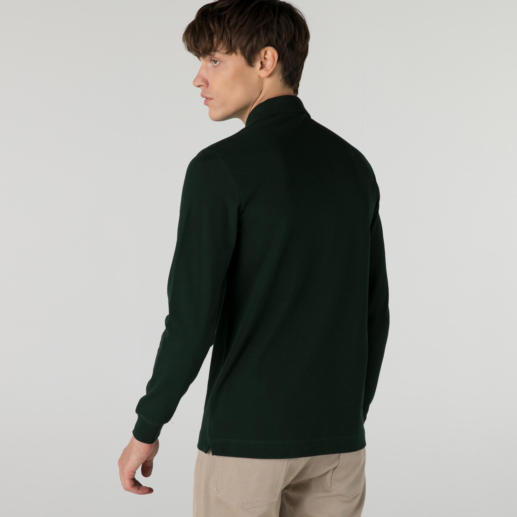 Lacoste Men's Long-Sleeve Paris Polo Shirt Regular Fit Stretch Cotton Piqué