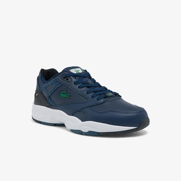 Lacoste Men's Storm 96 Lo Synthetic and Leather Sneakers