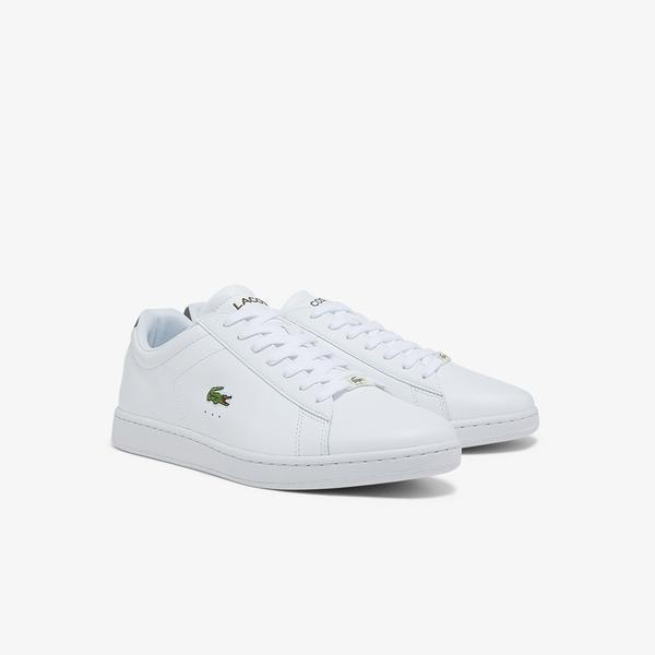 Lacoste Men's Carnaby Evo Leather and Synthetic Sneakers