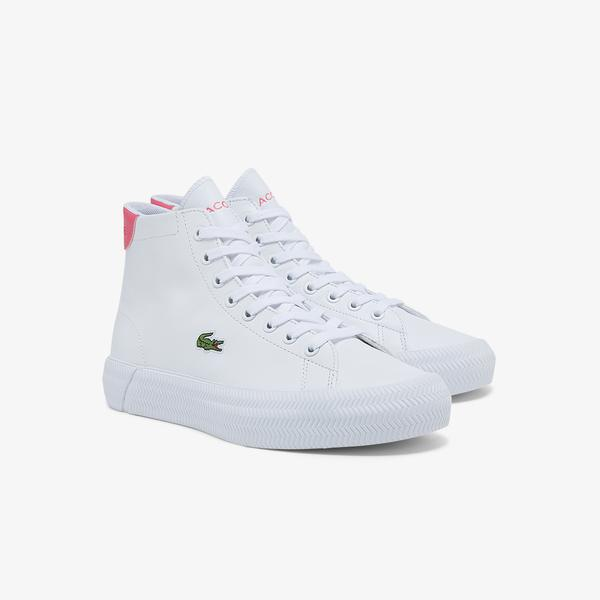 Lacoste Women's Gripshot Mid Leather and Synthetic Sneakers