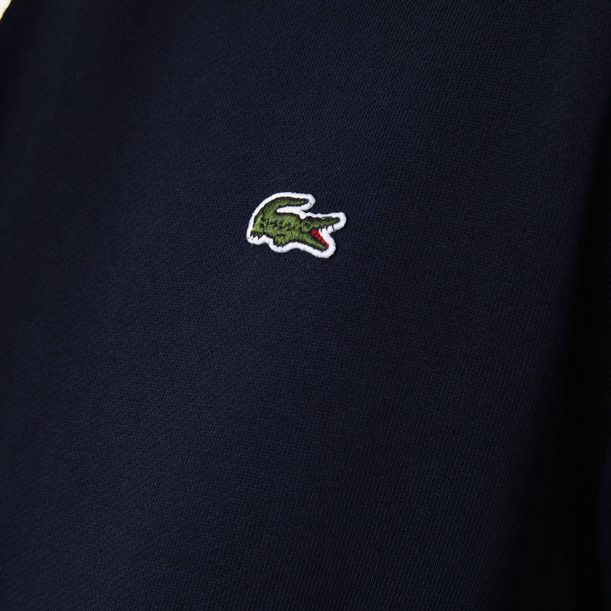 Lacoste Men's Hooded Print Sleeve Fleece Sweatshirt