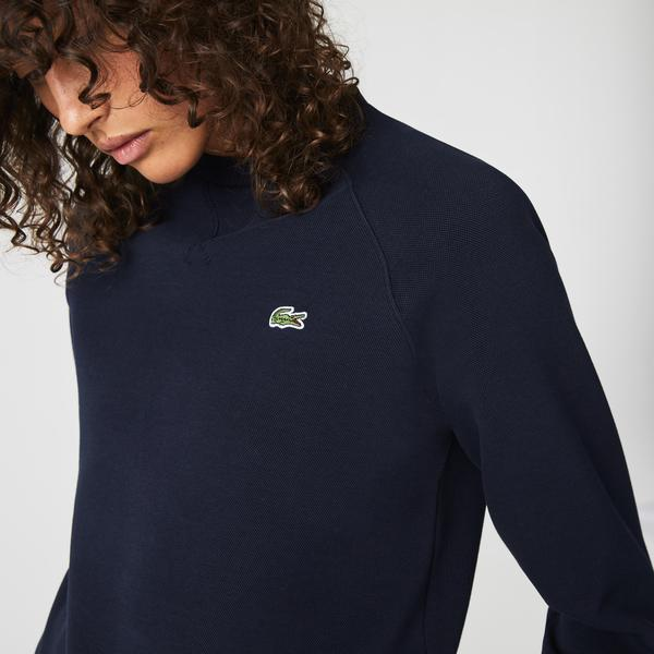 Lacoste Women's Crew Neck Cotton Blend Sweatshirt