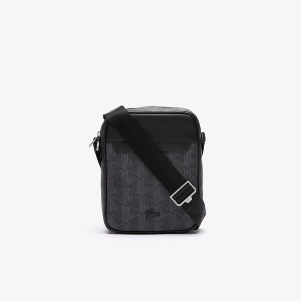 Lacoste Men's The Blend Monogram Canvas Vertical Bag