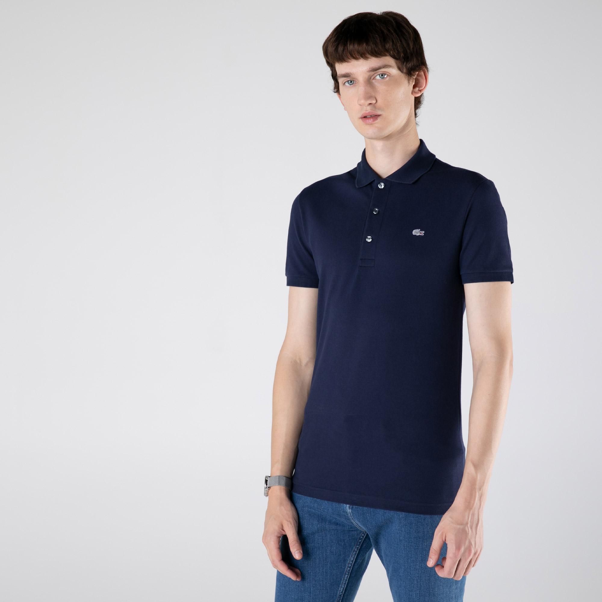Lacoste Men's Slim Fit Polo İn Stretch Petit Piqué